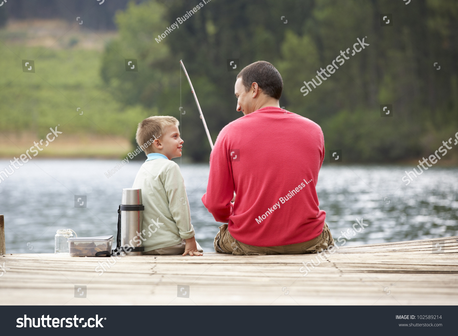 Father son fishing stock photo 102589214 shutterstock for Father son fishing