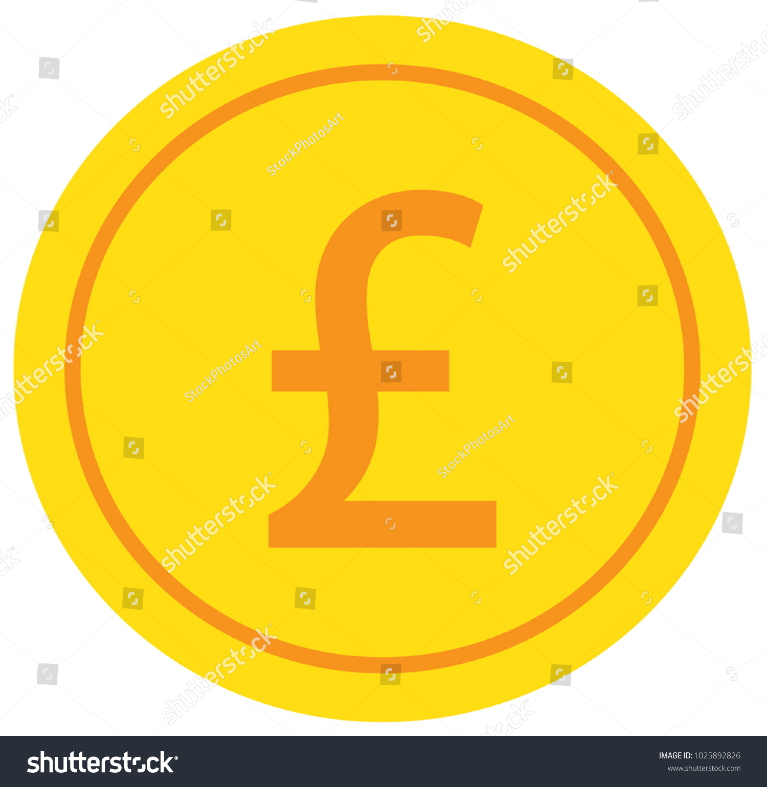 Pound Pound Sterling Currency Icon Logo Stock Vector Royalty Free