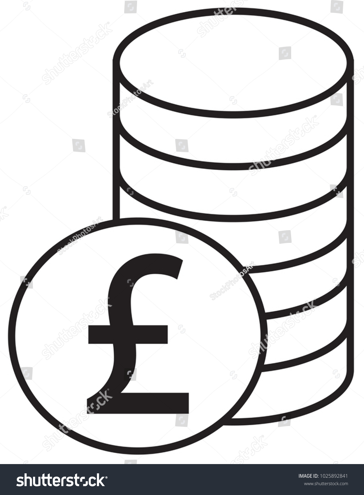 Pound Sterling Currency Icon Logo Vector Stock Vector Royalty Free