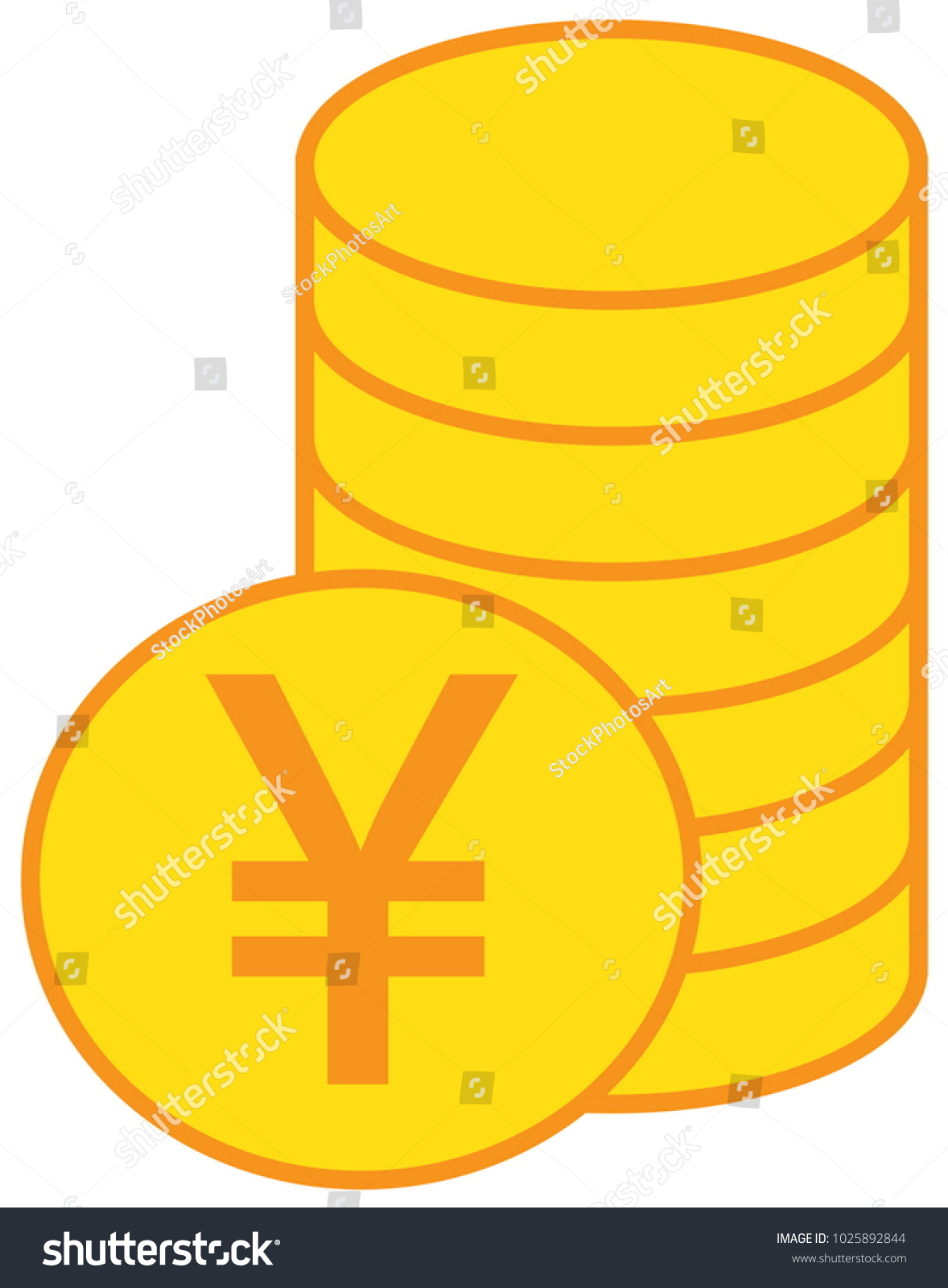 Yen Yuan Renminbi Currency Icon Logo Stock Vector 1025892844