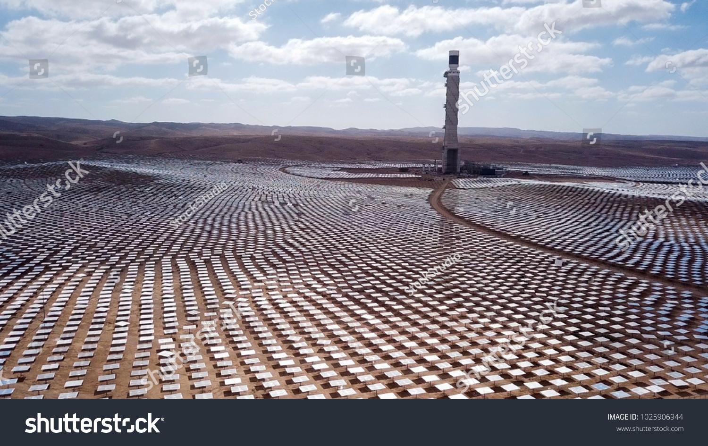 Solar Power Plant Mirrors That Focus Stock Photo Edit Now 1025906944