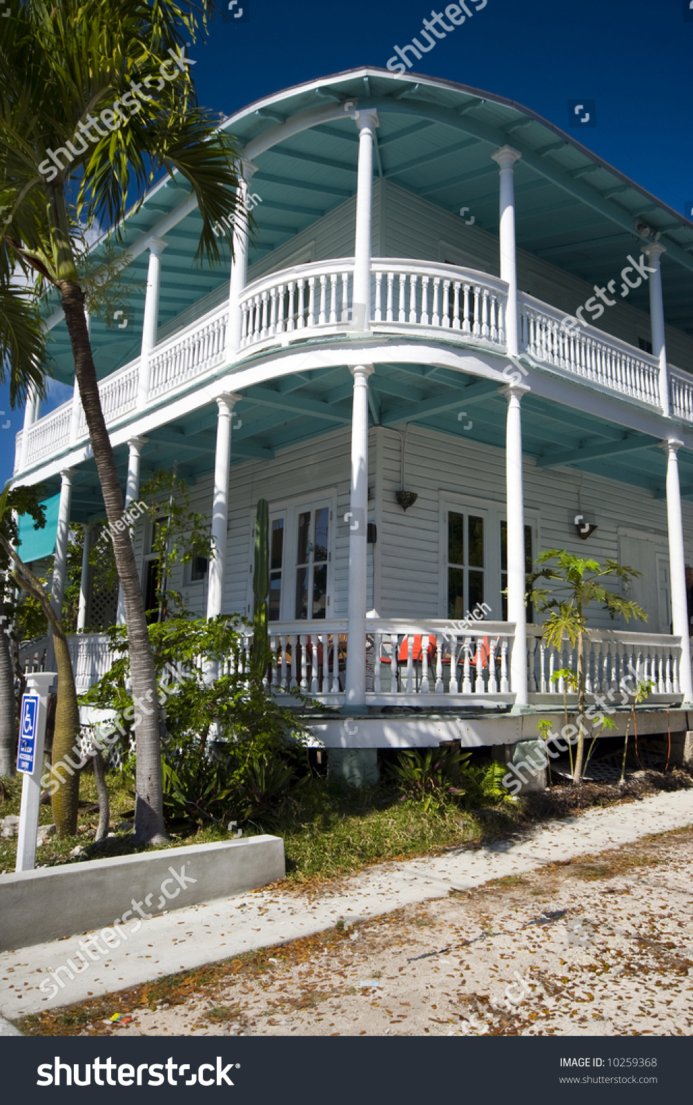Typical House Architecture Key West Florida Famous Tourist