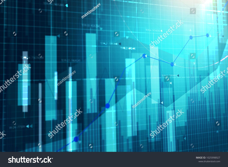 stock market chart business graph background stock illustration