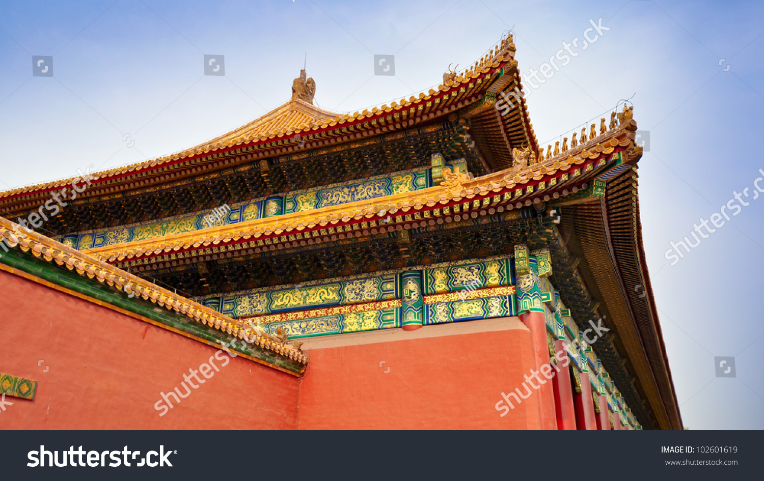 details eaves roofs hall supreme harmony stock photo edit now