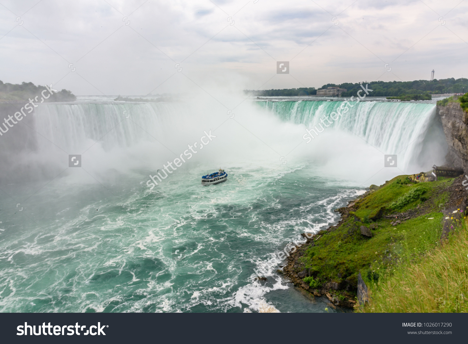 Oldest Park Usa containing American Falls, Bridal Veil Falls and Horseshoe Falls #1026017290