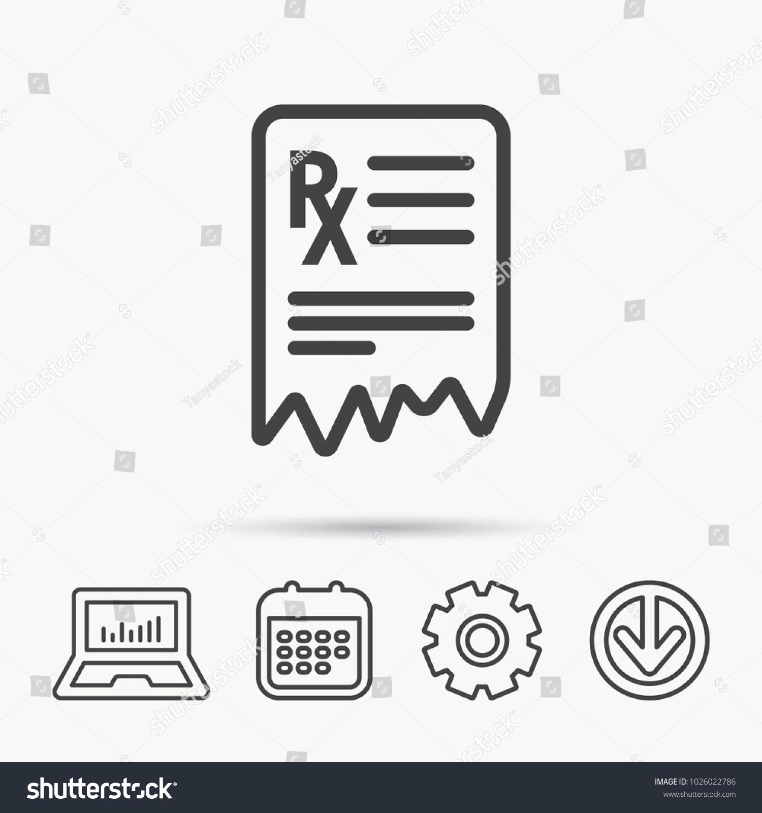 Medical Prescription Icon Health Document Sign Stock Vector (Royalty