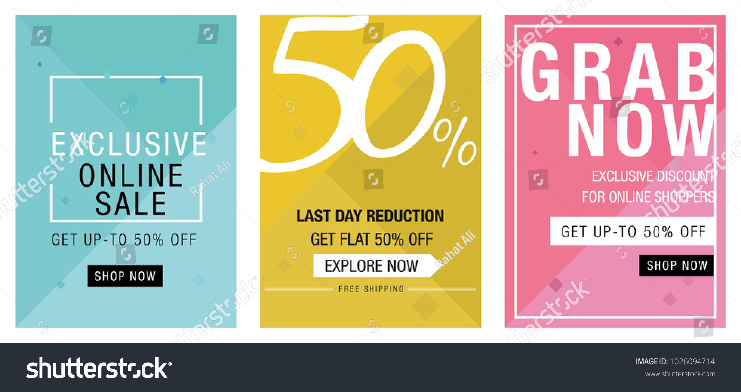 Online Social Media Sale Banners Template Stock Vector Royalty Free