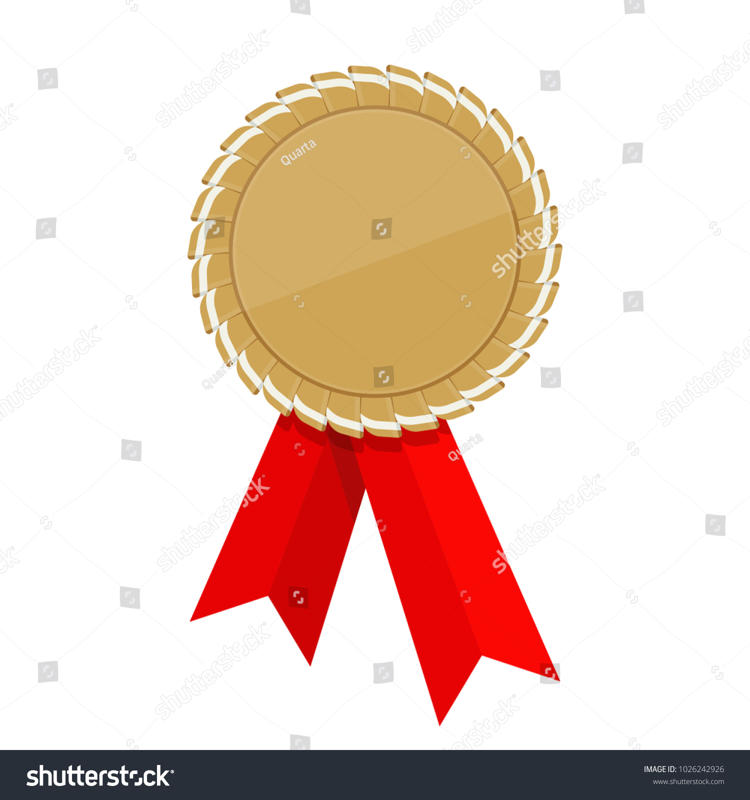 golden ribbon awards template trophy reward stock illustration