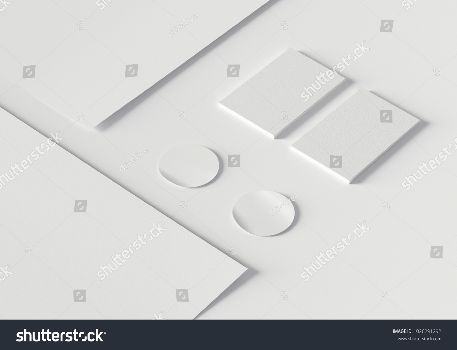 Branding Template Business Cards Stickers Paper Stock Illustration ...