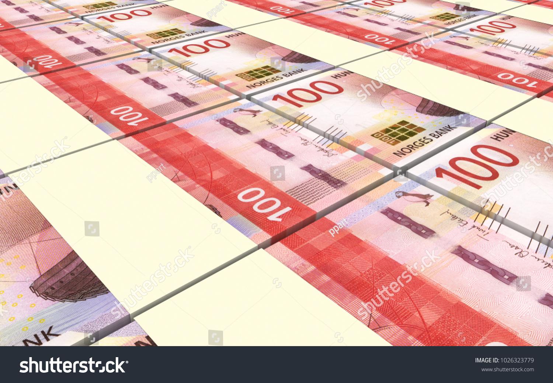 Norwegian Krone Bills Stacks Background 3d Illustration Ez Canvas