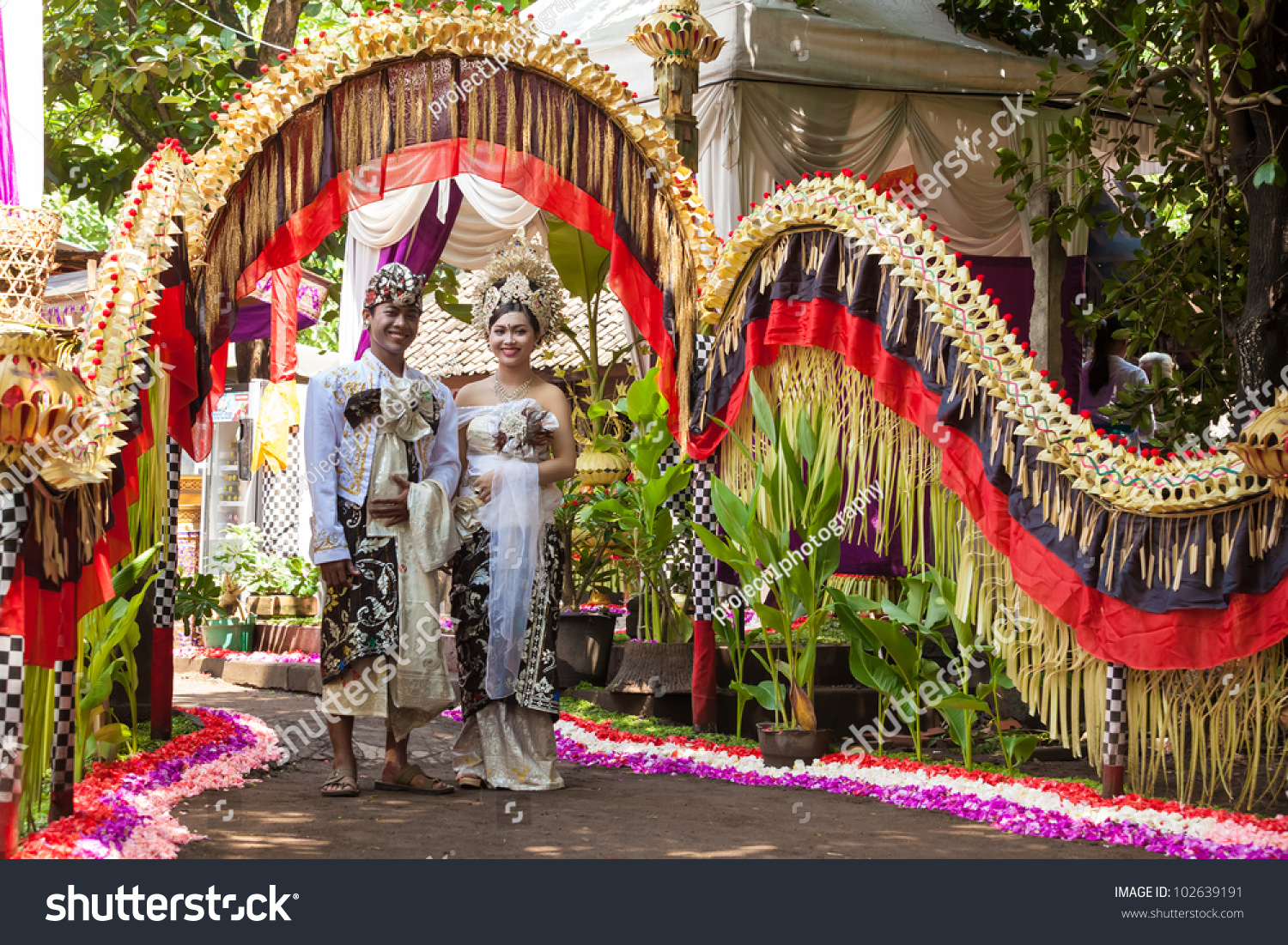 Bali february 11 couple enacting wedding stock photo 100 legal bali february 11 couple enacting wedding scene in preparation for religious ceremony on february junglespirit Images