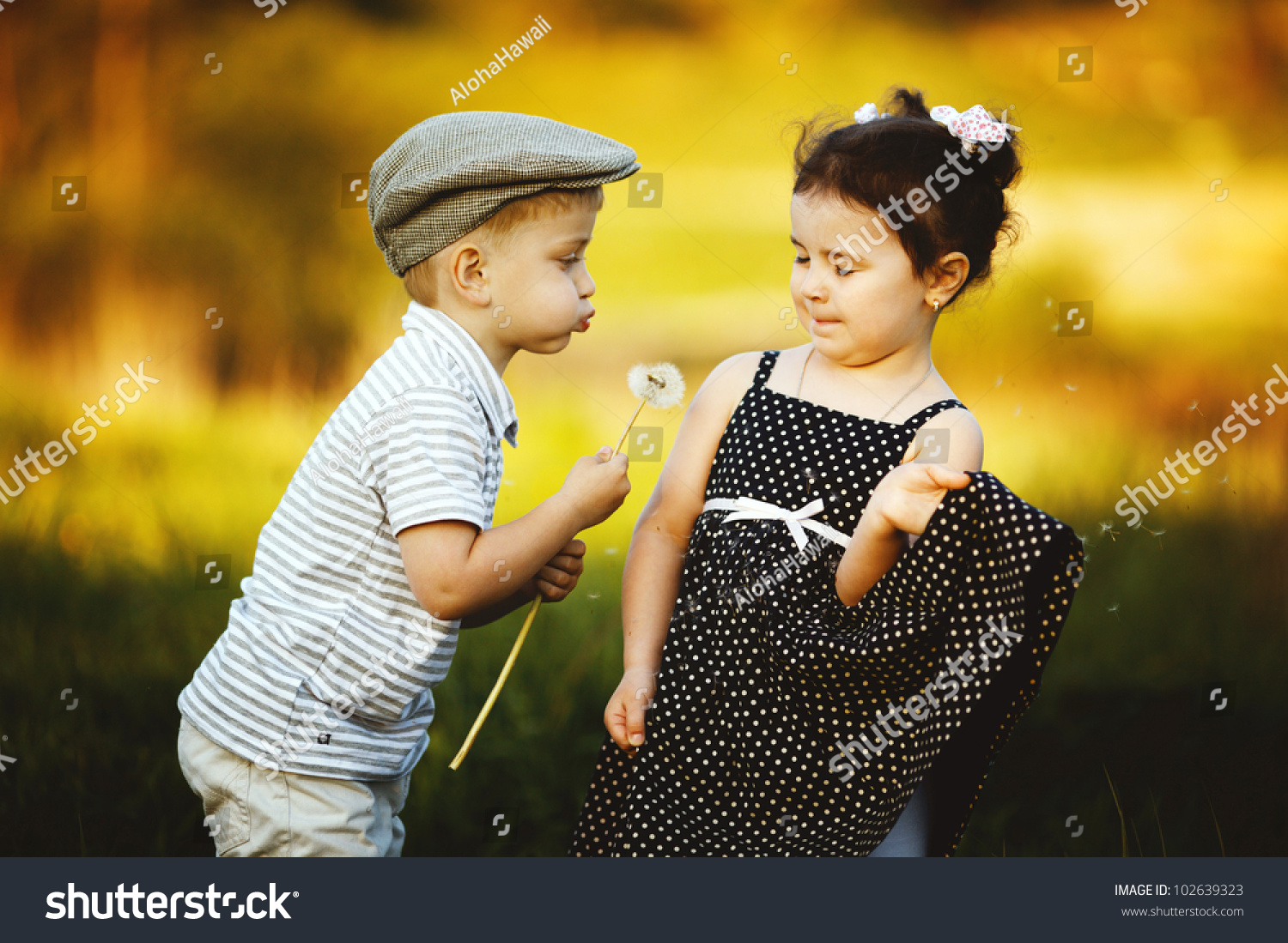 cute boy girl stock photo (100% legal protection) 102639323