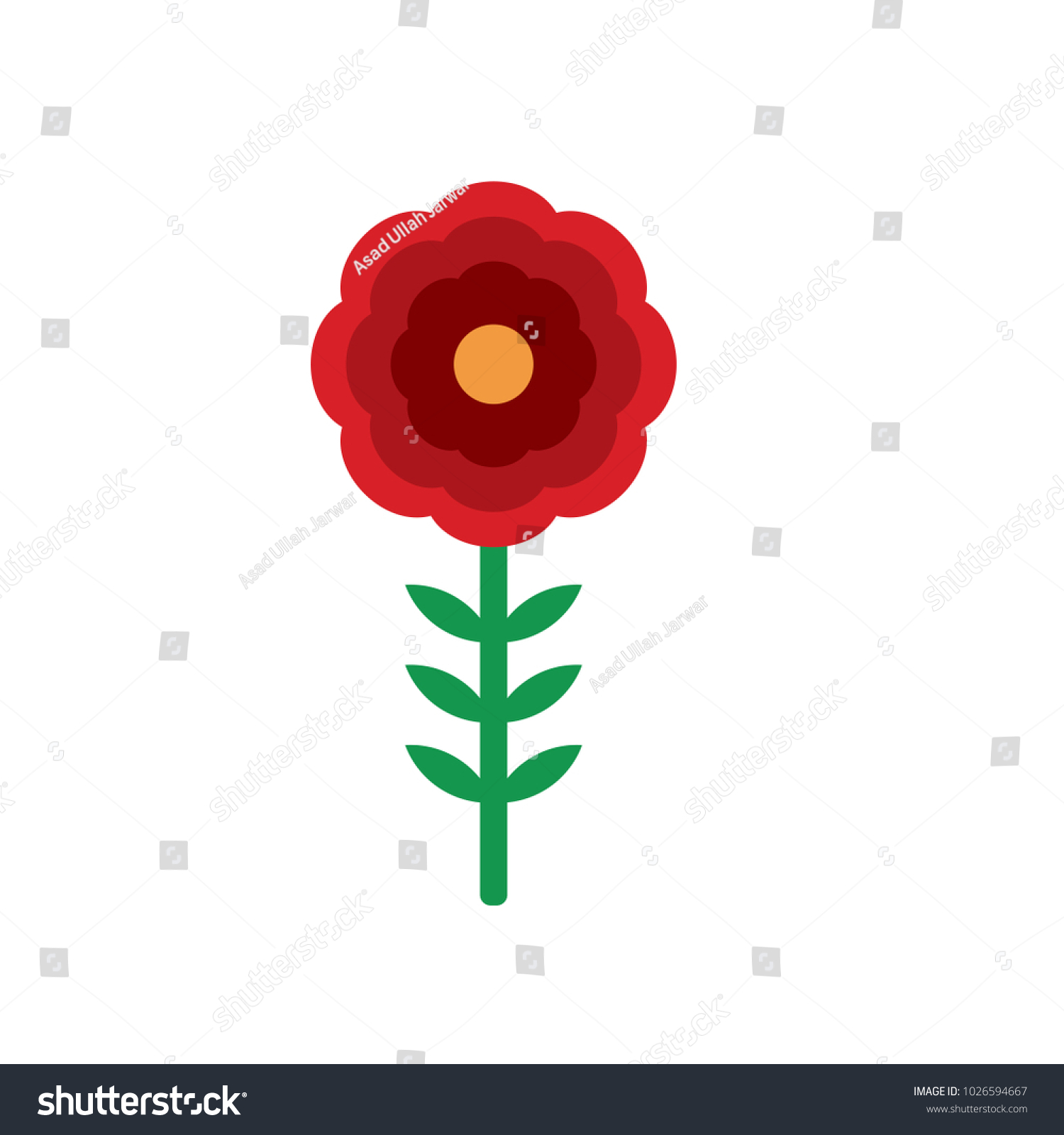 Flowers Used Show Love Sympathy Respect Stock Vector HD (Royalty ...