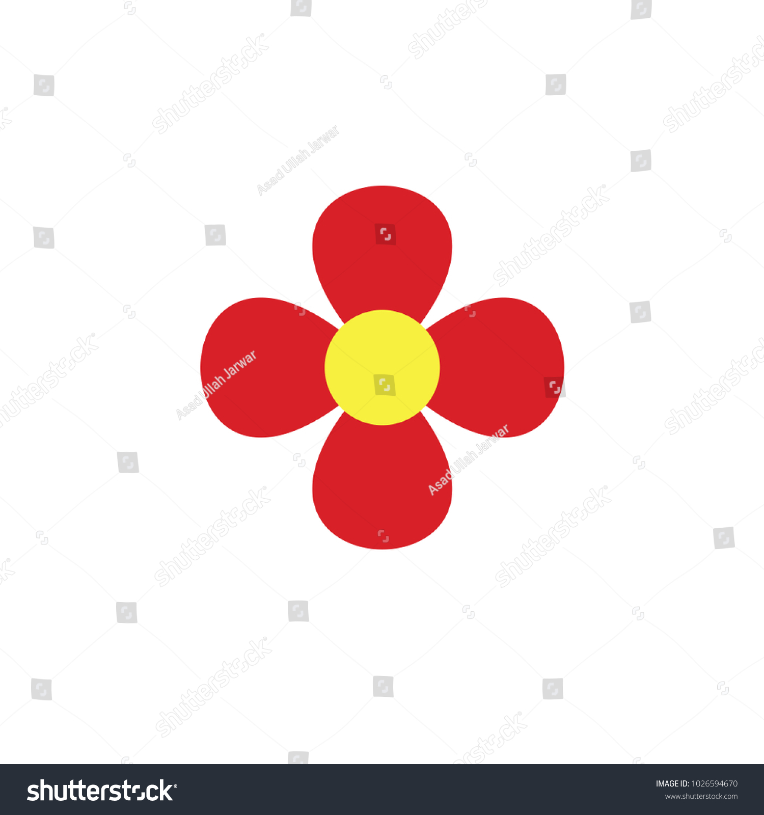 Flowers Used Show Love Sympathy Respect Stock Vector 1026594670 ...