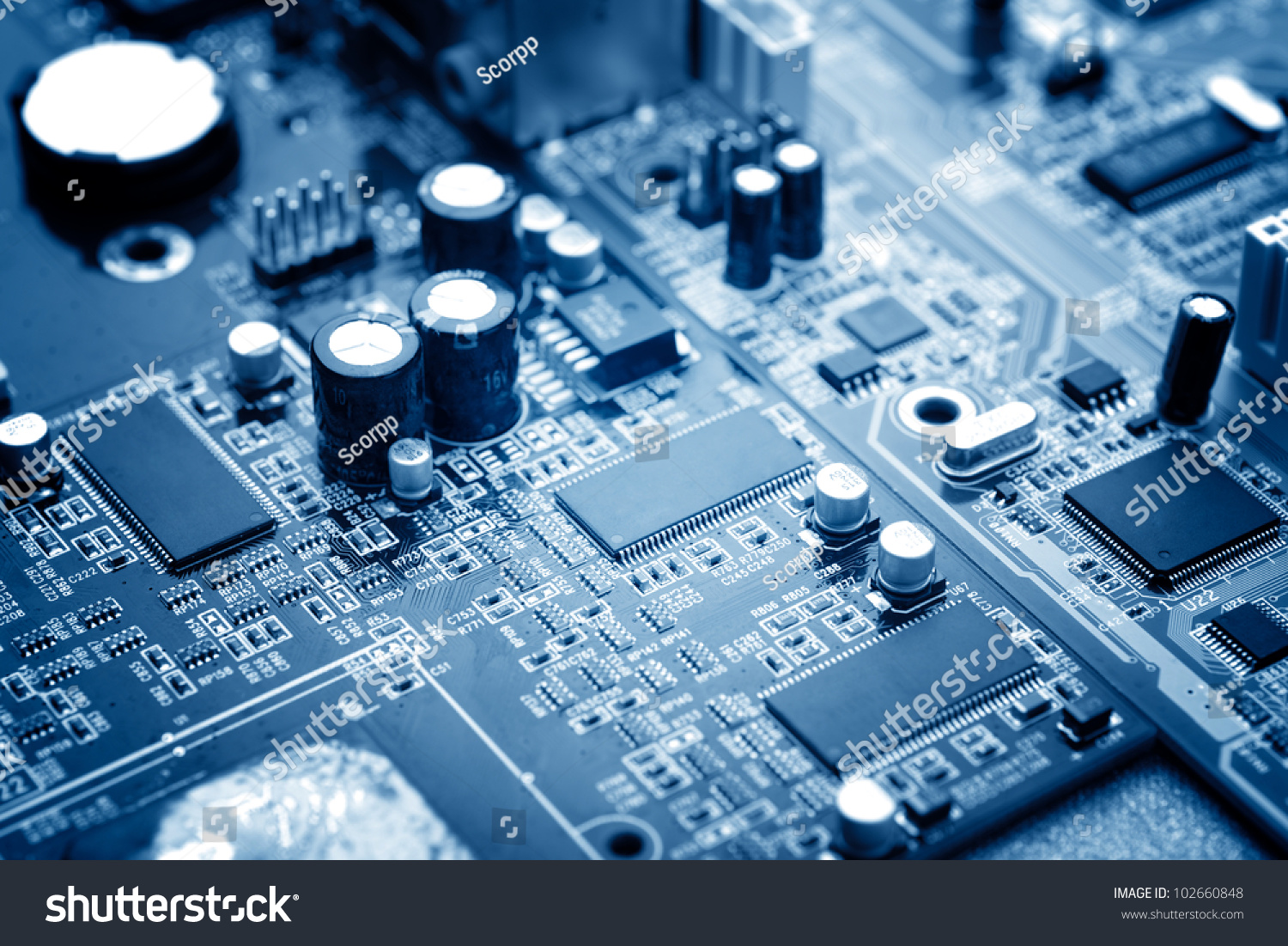 Closeup Electronic Circuit Board Processor Stock Photo Edit Now Image Of The Close Up With