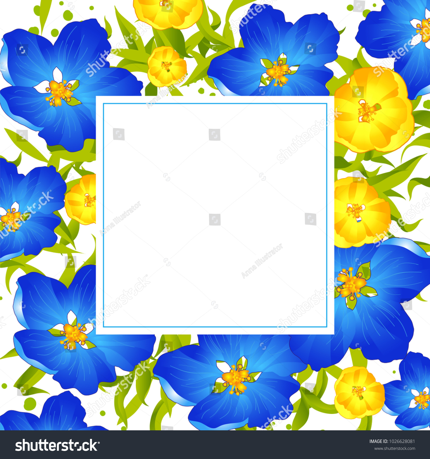 Vector Flowers Vector Illustration Spring Summer Stock Vector