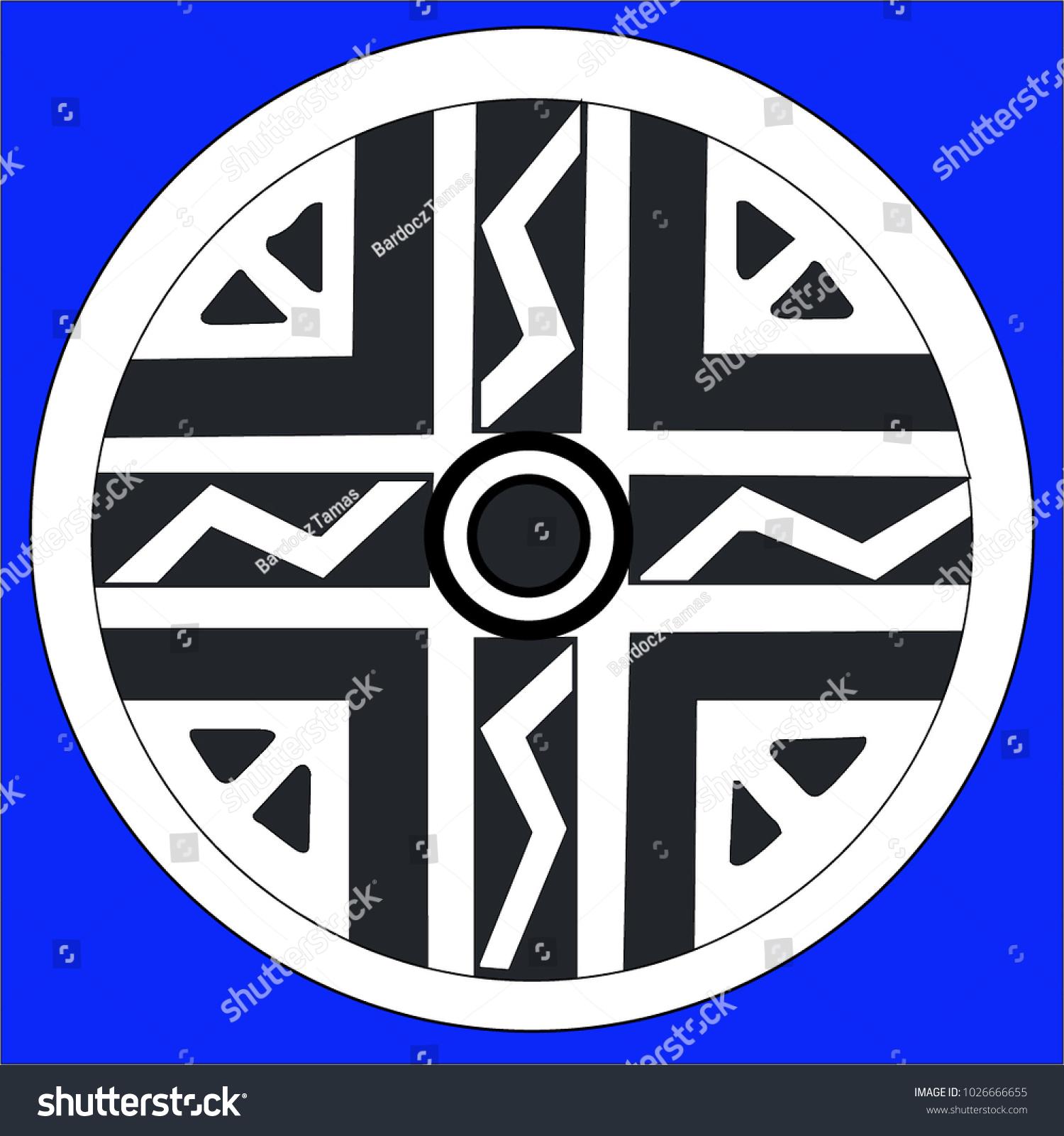 Ancient Geometrics Hungary Stock Vector Royalty Free 1026666655