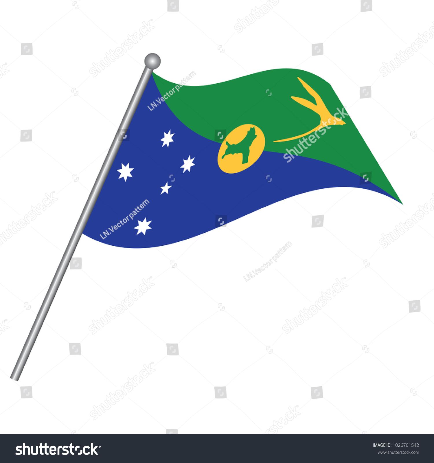 Christmas Island Flag National Flag Christmas Stock Vector (Royalty ...