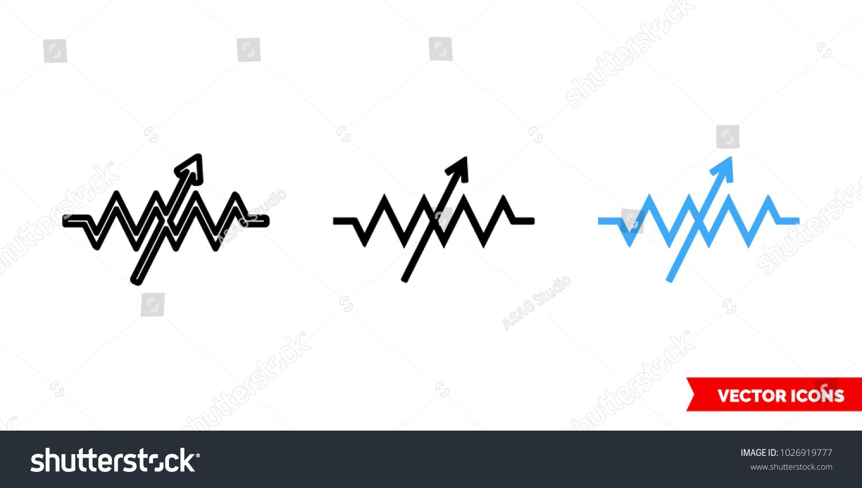 Variable Resistor Symbol Icon 3 Types Stock Vector 1026919777 ...