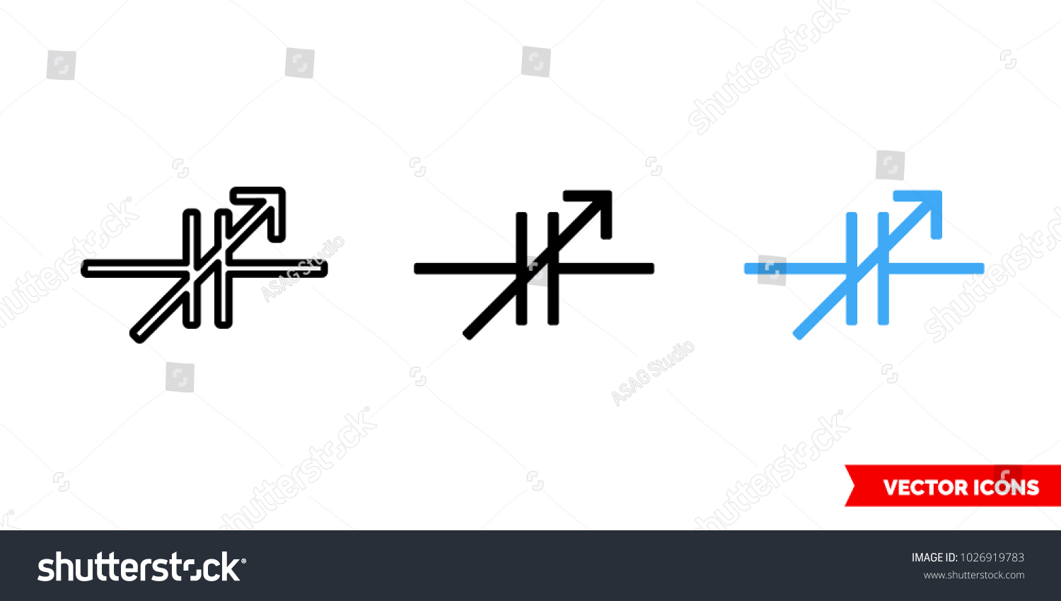 Variable Capacitor Symbol Icon 3 Types Stock Vector 1026919783 ...