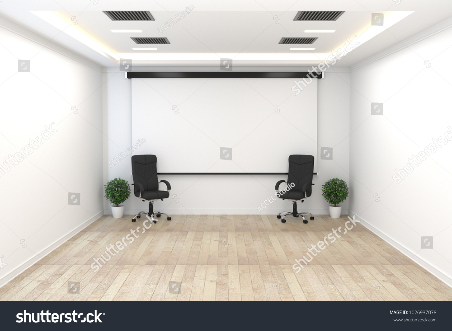 Board Room Empty Office Concept Business Stock Illustration ...