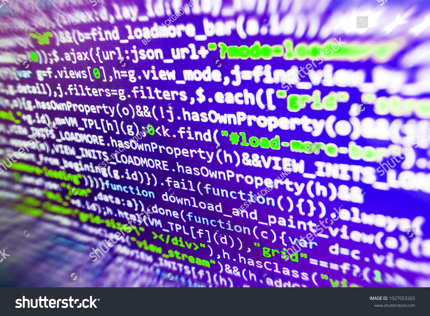 Business Company Coding Cyberspace Concept Vivid Stock Photo (Edit