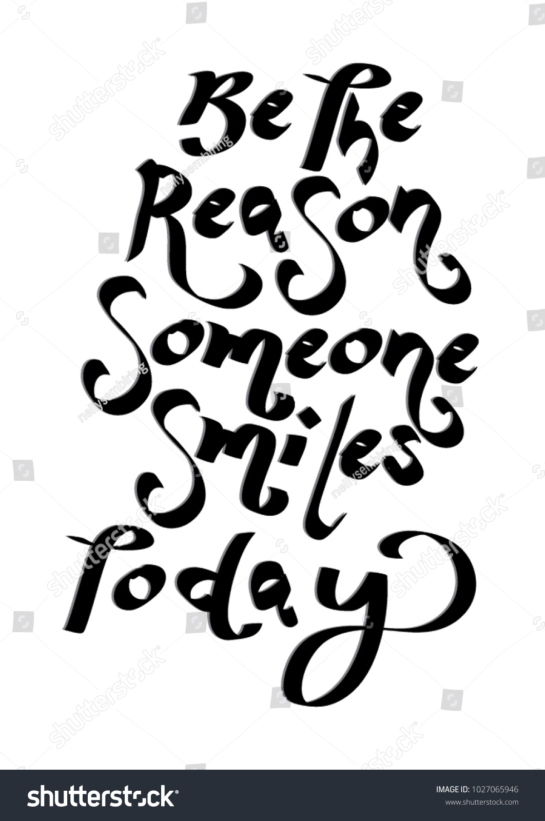 Hand Lettering Be Reason Someone Smiles Stock Vector Royalty Free