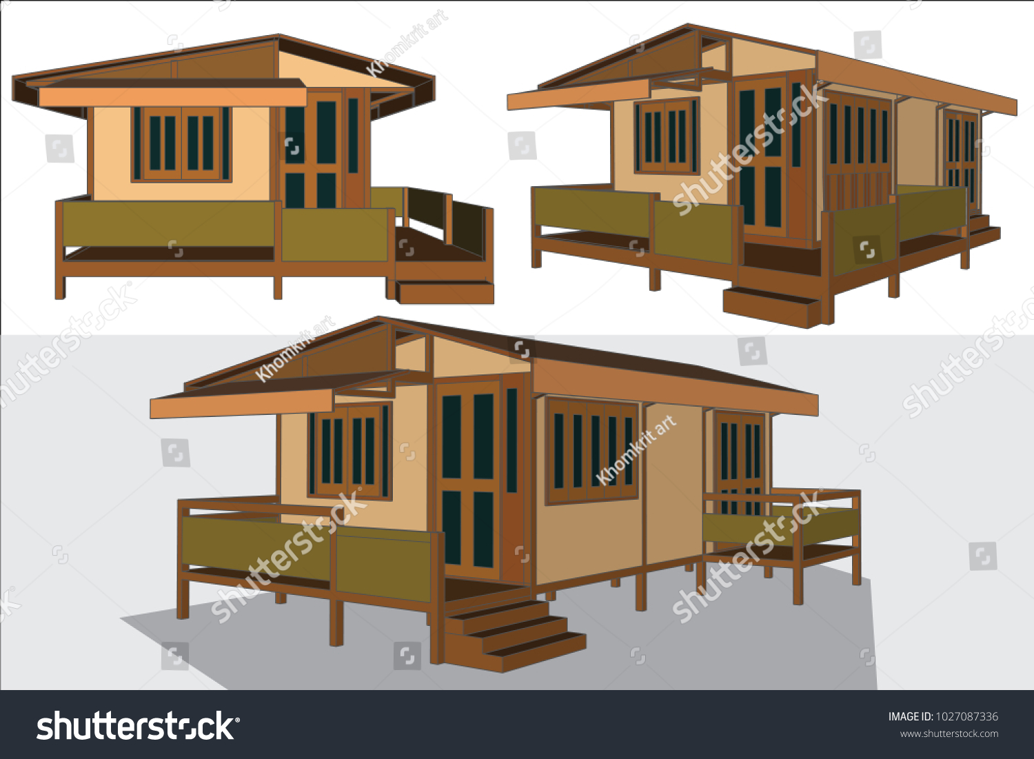 Asian House Design Thailand Vector Illustration Stock Vector ... on tradtional interior design, luxury home design, asian mansion makati condotel, log home with porches design, asian timber frame homes, safari style interior design, chinese home design, asian exterior, oriental home design, japanese style pergola design,
