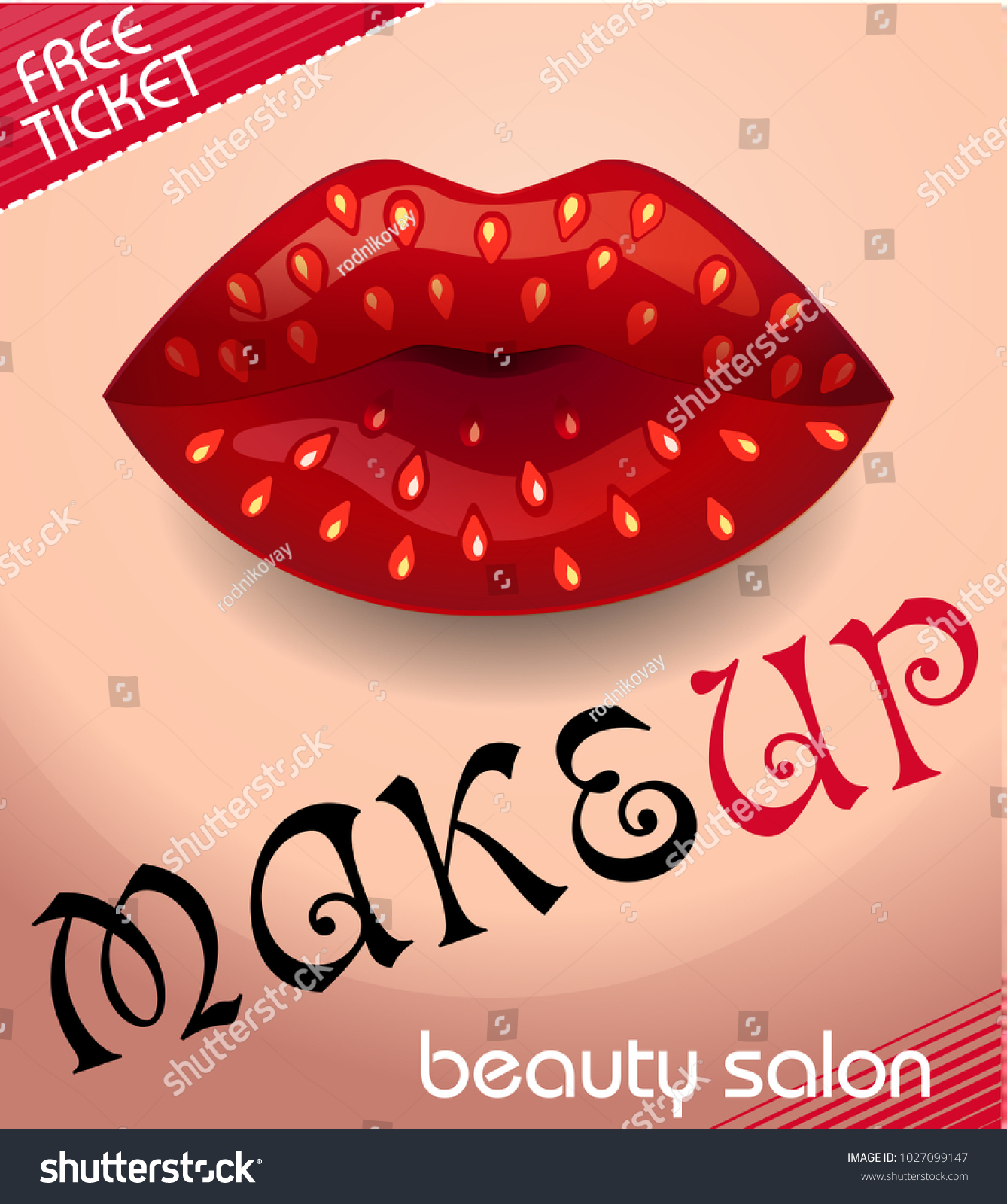Banner Beauty Salon Form Makeup Colorful Stock Vector Royalty Free 1027099147