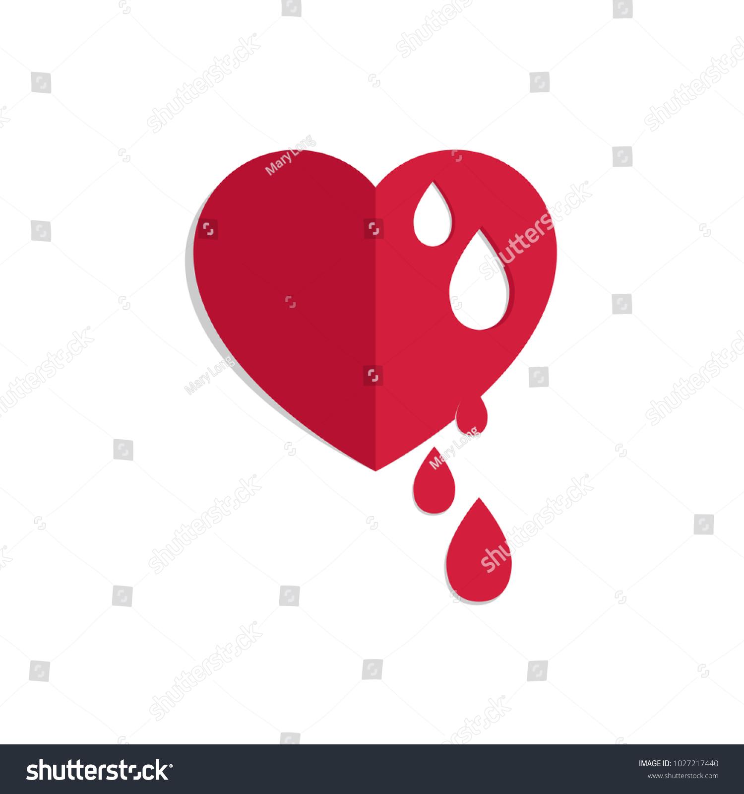 Vector red bleeding heart world hemophilia stock vector 1027217440 vector red bleeding heart for world hemophilia day world donor day medical concept buycottarizona
