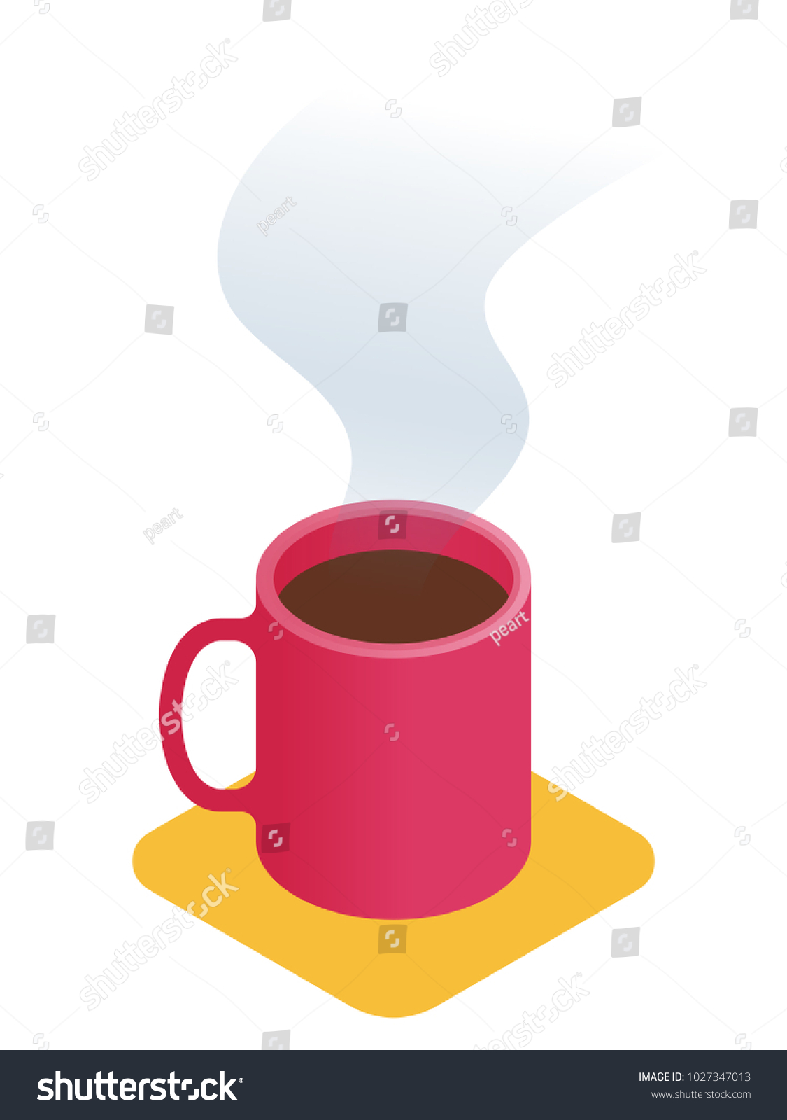 Flat Isometric Illustration Cup Coffee Business Stock Vector ...