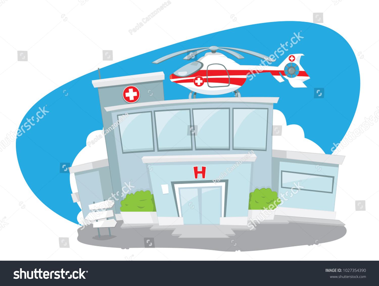 Funny Cartoon Hospital Pics vector cartoon representing illustration funny hospital