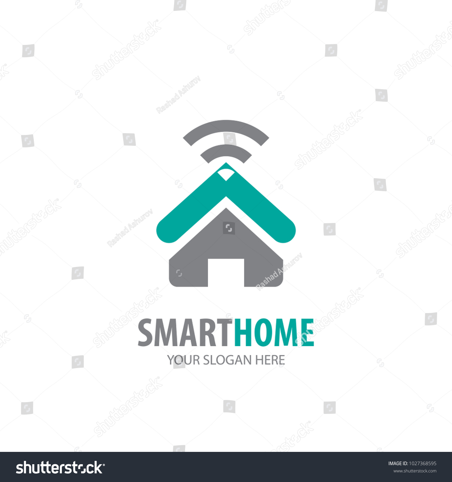 Smart Home Logo Business Company Simple Stock Photo (Photo, Vector ...