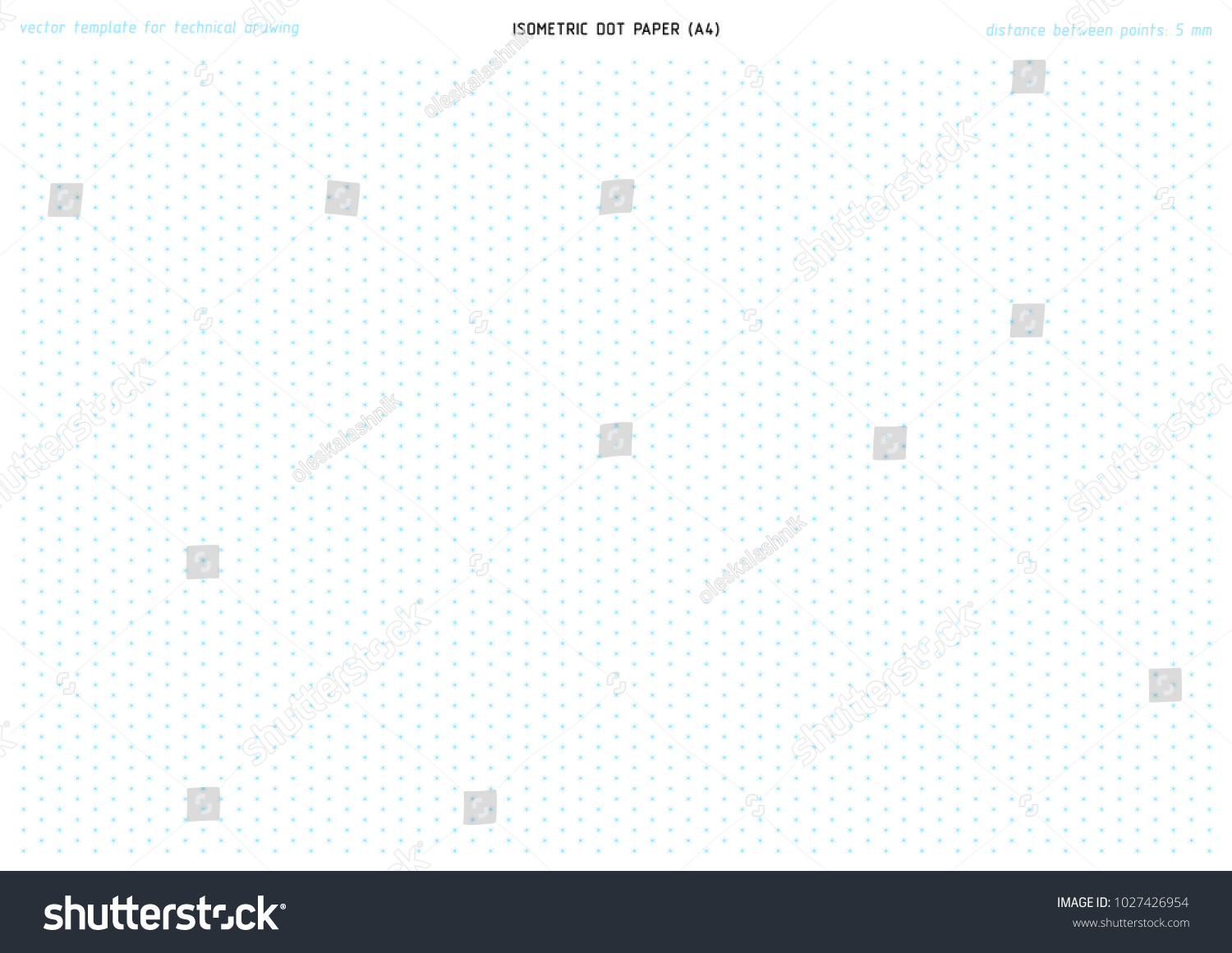 Printable Isometric Dot Paper Vector Pattern Stock Vector (Royalty ...