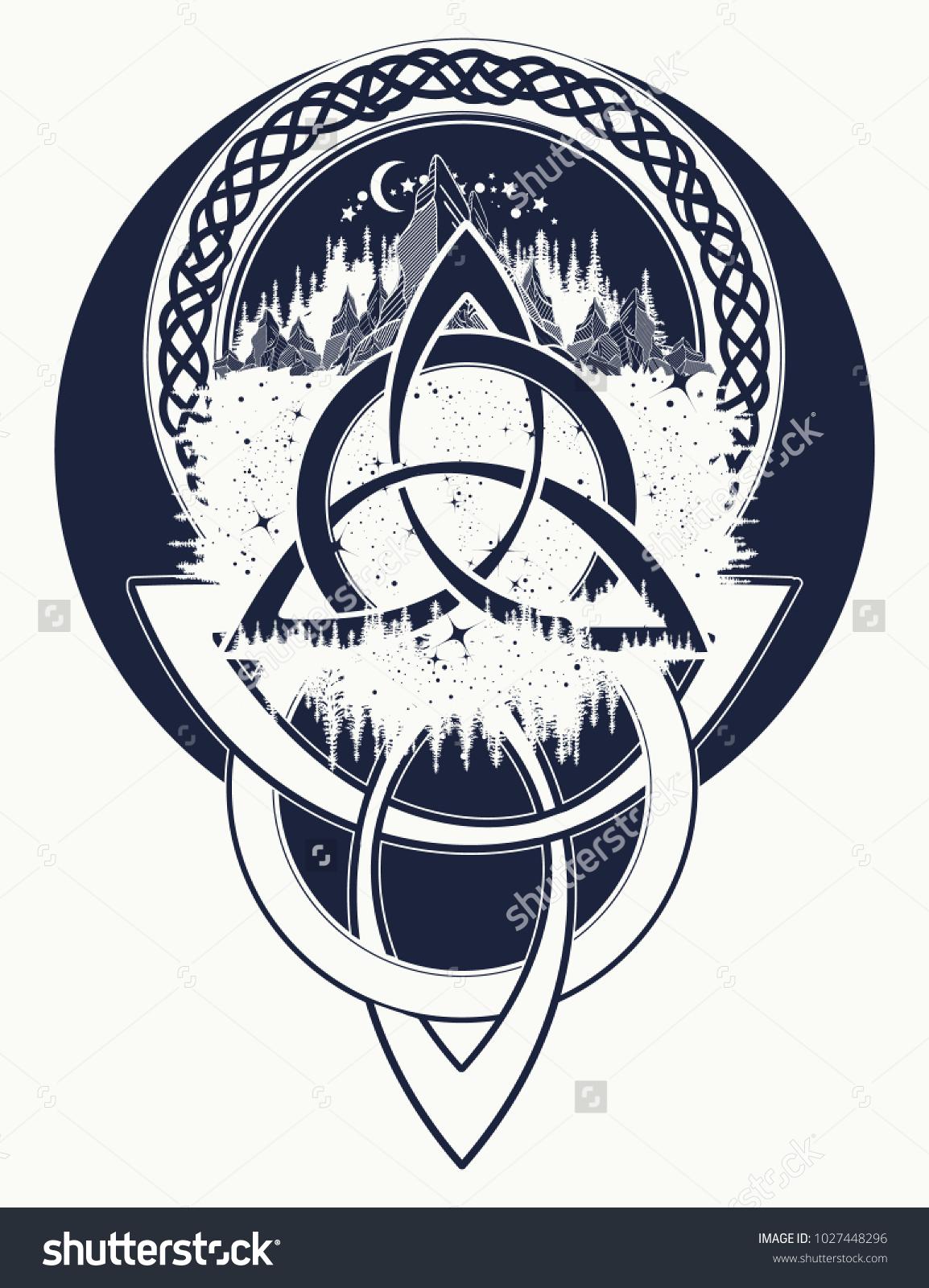 Mountain forest symbol travel symmetry tourism stock vector mountain forest symbol travel symmetry tourism t shirt design celtic biocorpaavc Images