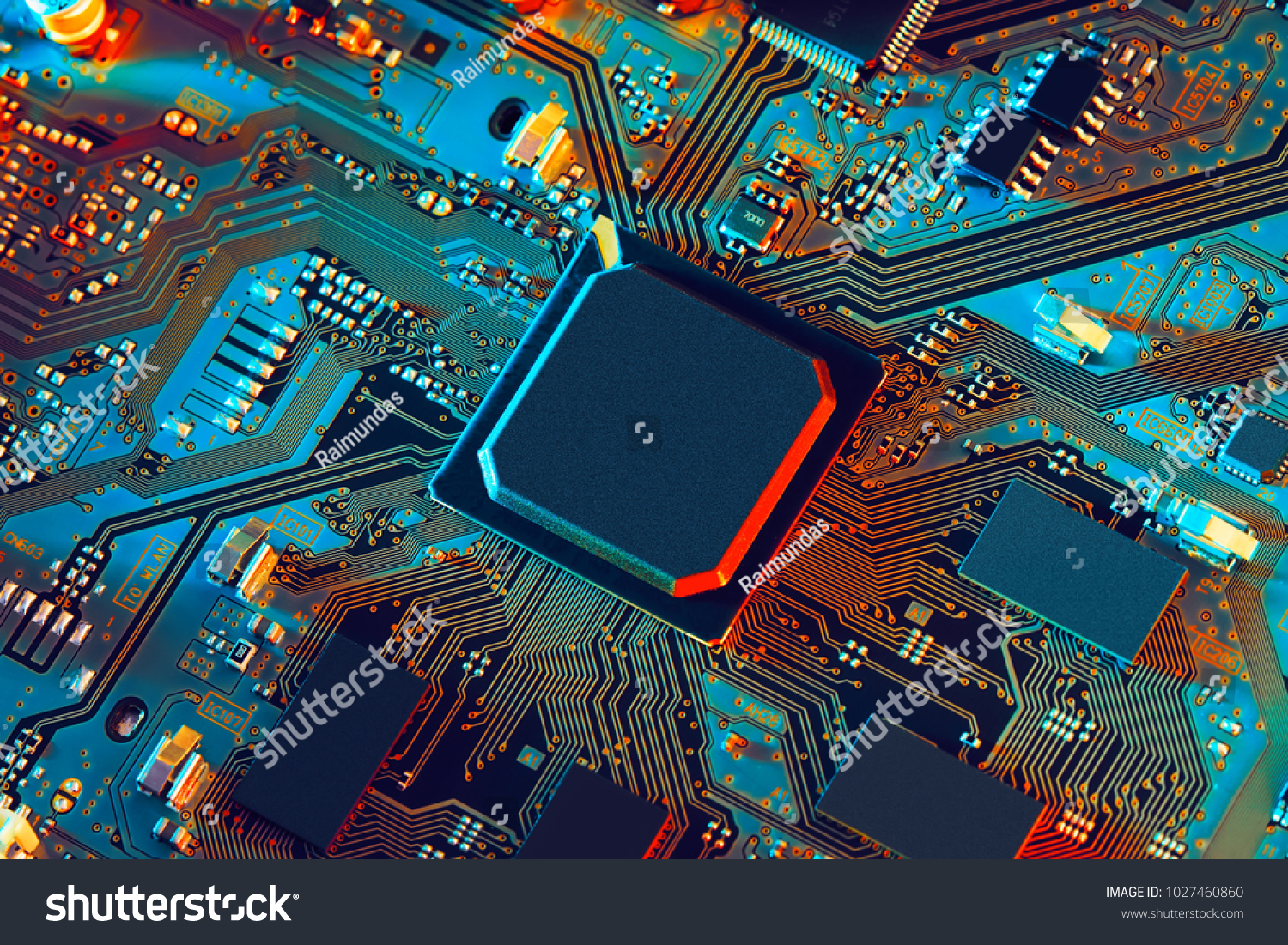 Electronic circuit board close up. #1027460860