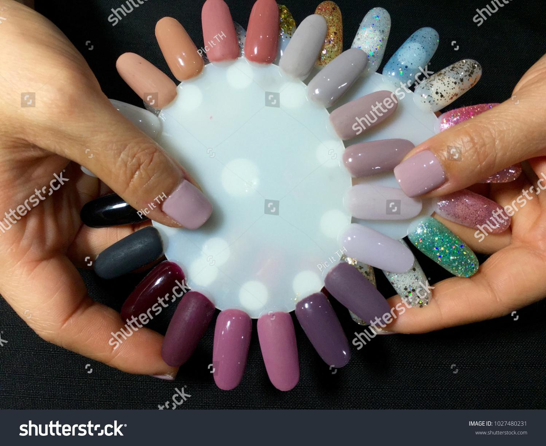 Nail Artist Stylish Manicure Nail Art Stock Photo (Royalty Free ...