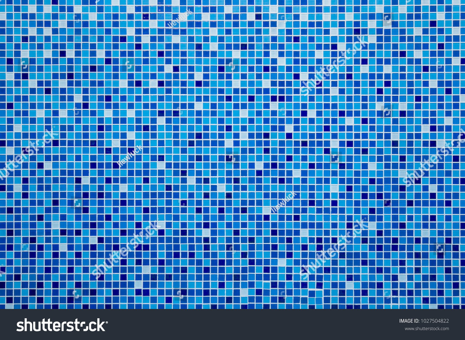 Blue Ceramic Tile Mosaic Swimming Pool Stock Photo (Safe to Use ...
