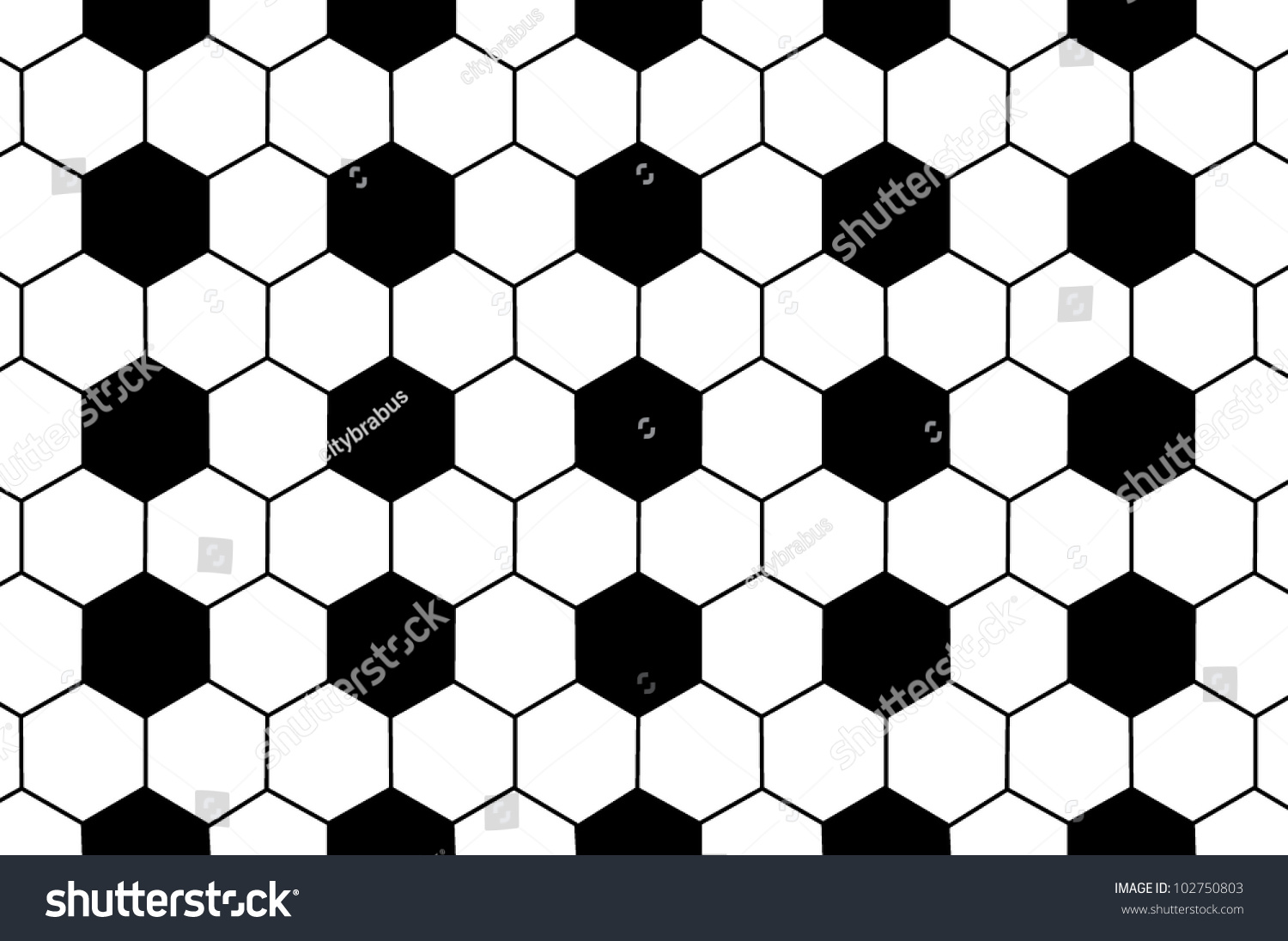Black White Soccer Ball Pattern Background Stock ...