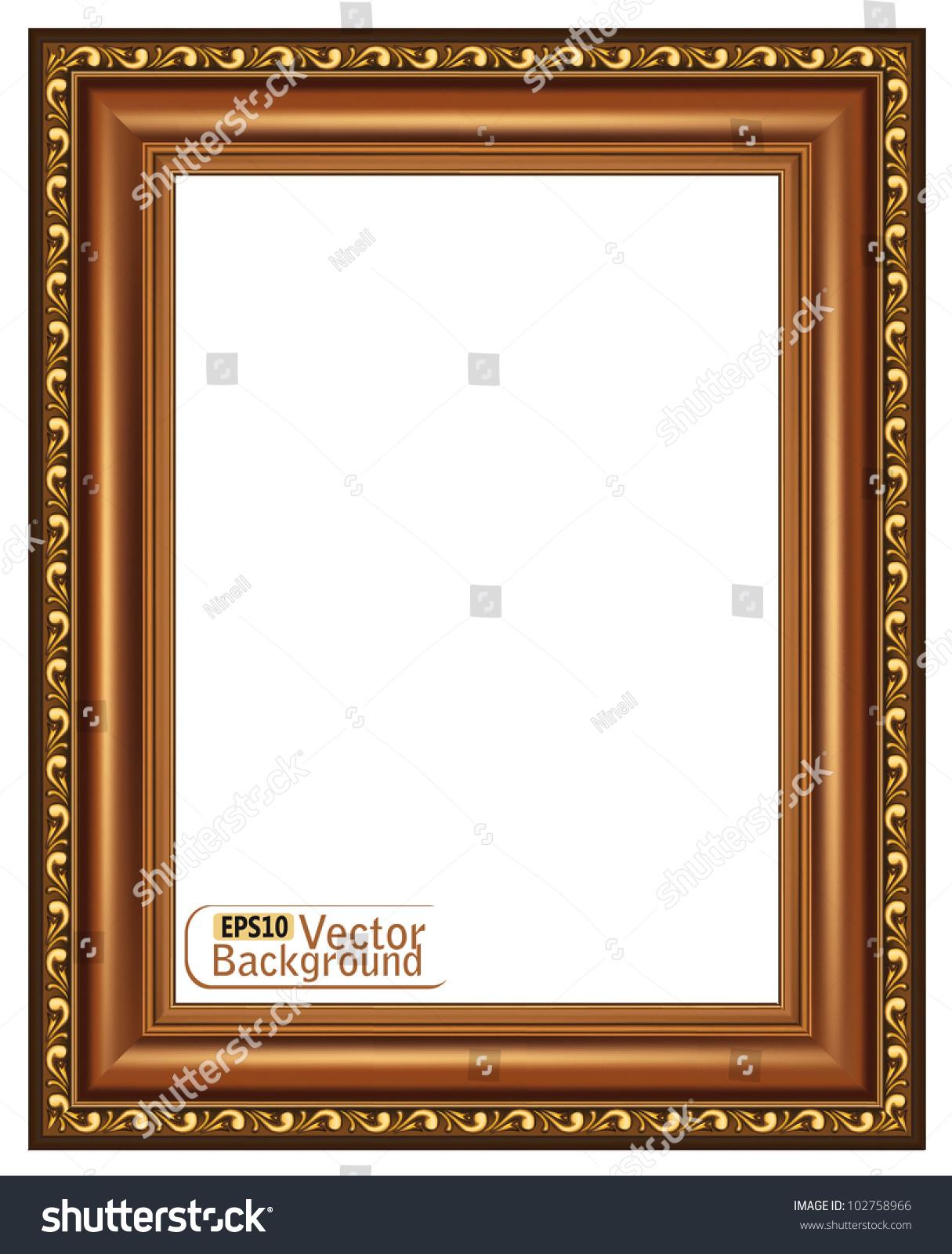 Wooden Frame Design : Gilded Wooden Framevector Stock Vector 102758966 - Shutterstock
