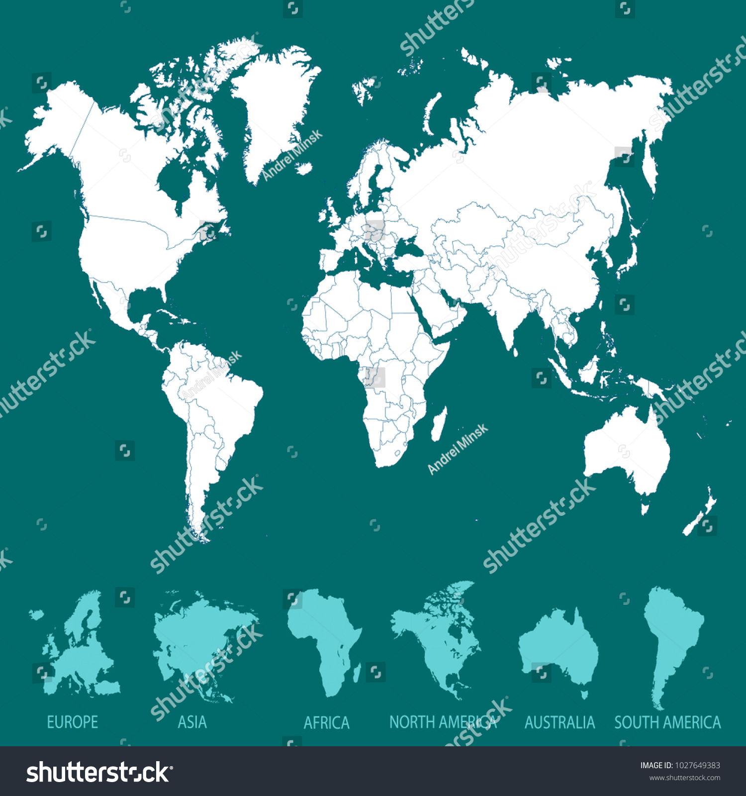 World map europe asia america africa vector de stock1027649383 world map europe asia america africa vector de stock1027649383 shutterstock gumiabroncs Gallery