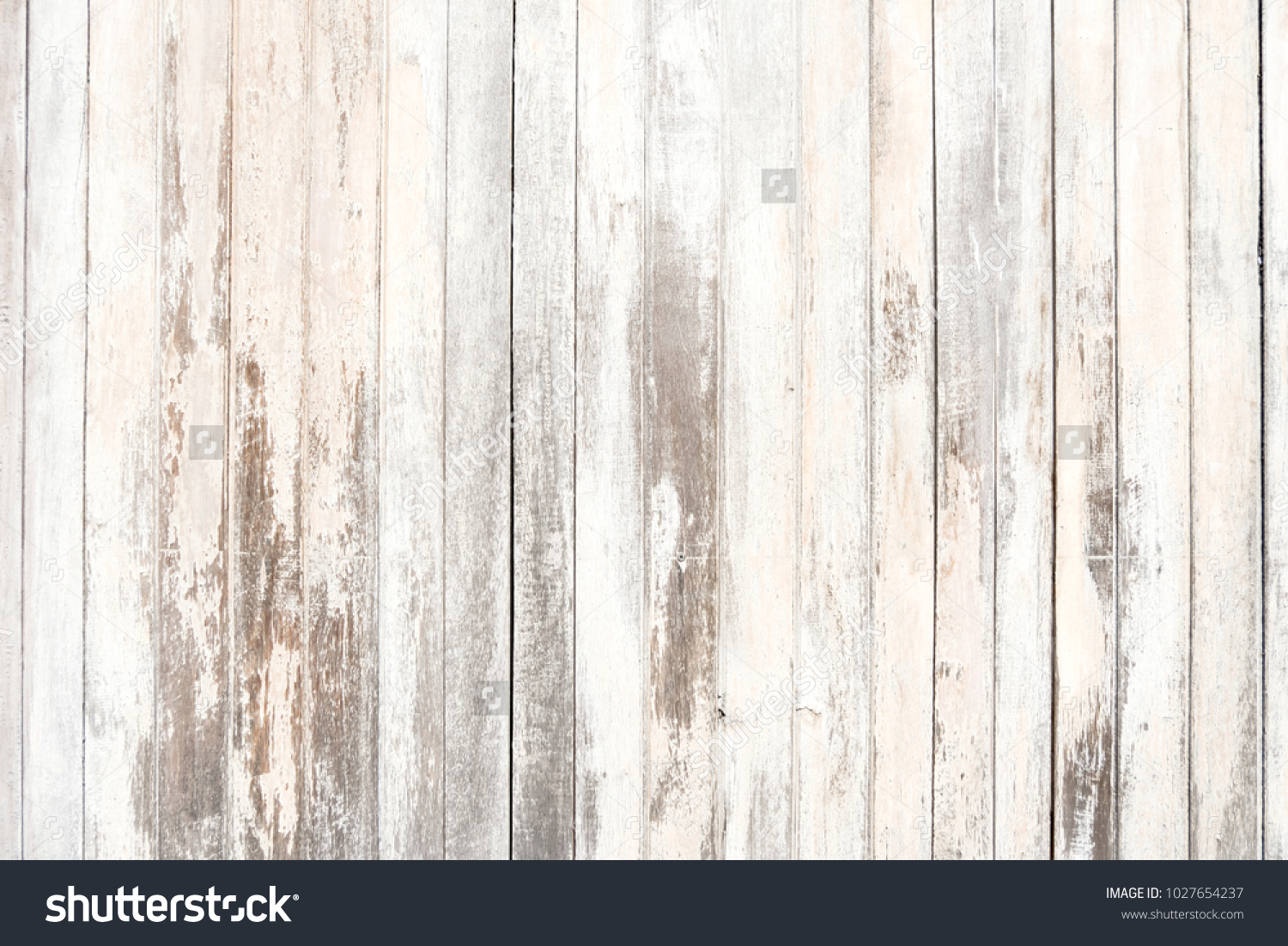 Old wood texture and background in vintage tone. Plank light brown wooden wall background. #1027654237