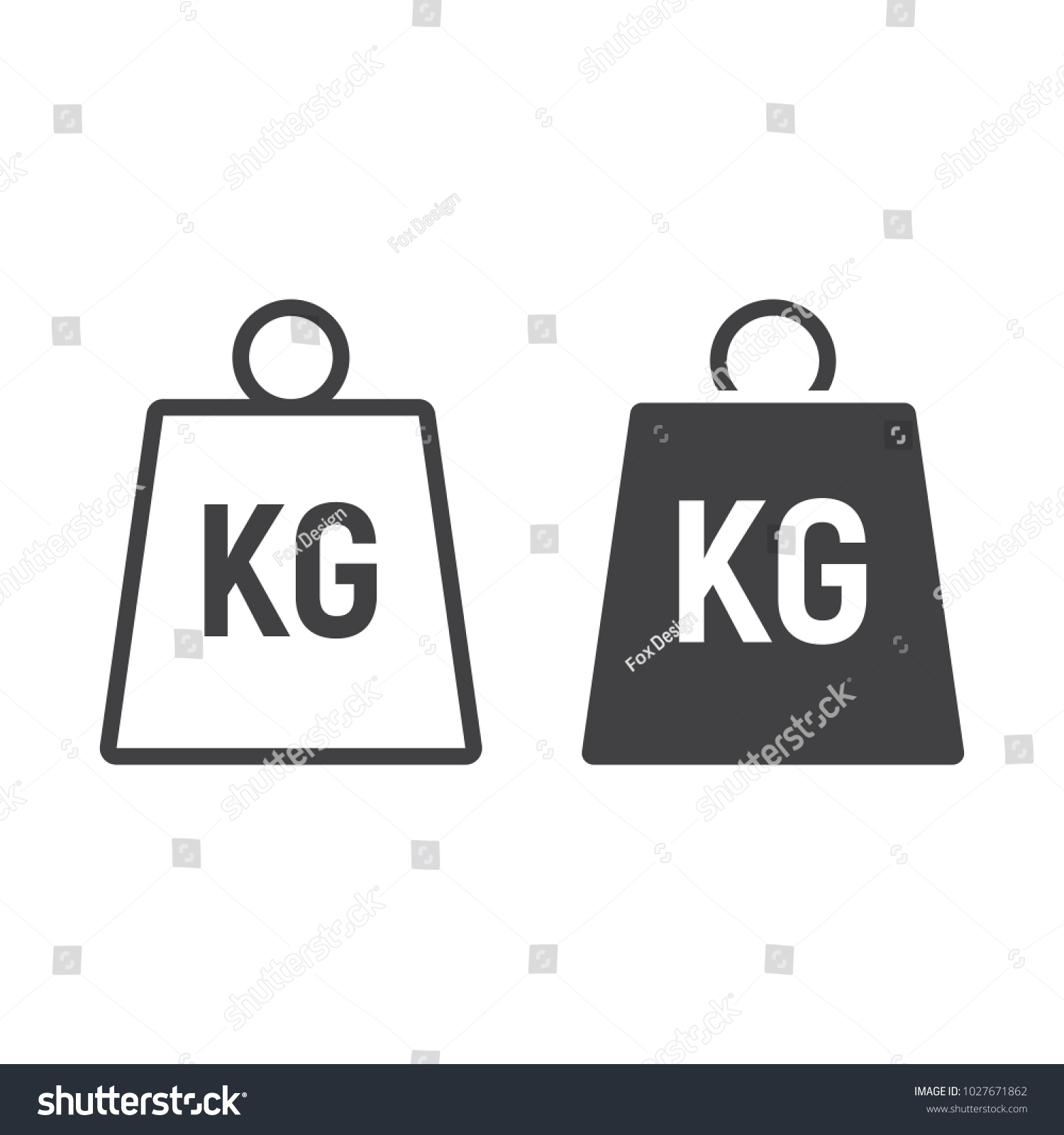 Weight Symbol Line Glyph Icon Logistic Stock Vector Hd Royalty Free