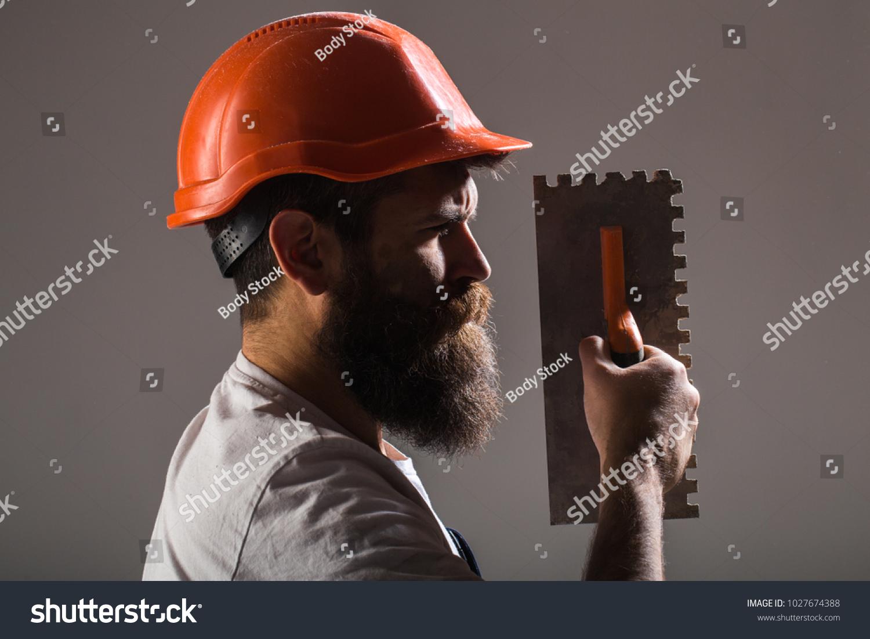 1c9505398be Tool Trowel Handyman Man Builder Mason Stock Photo (Edit Now ...