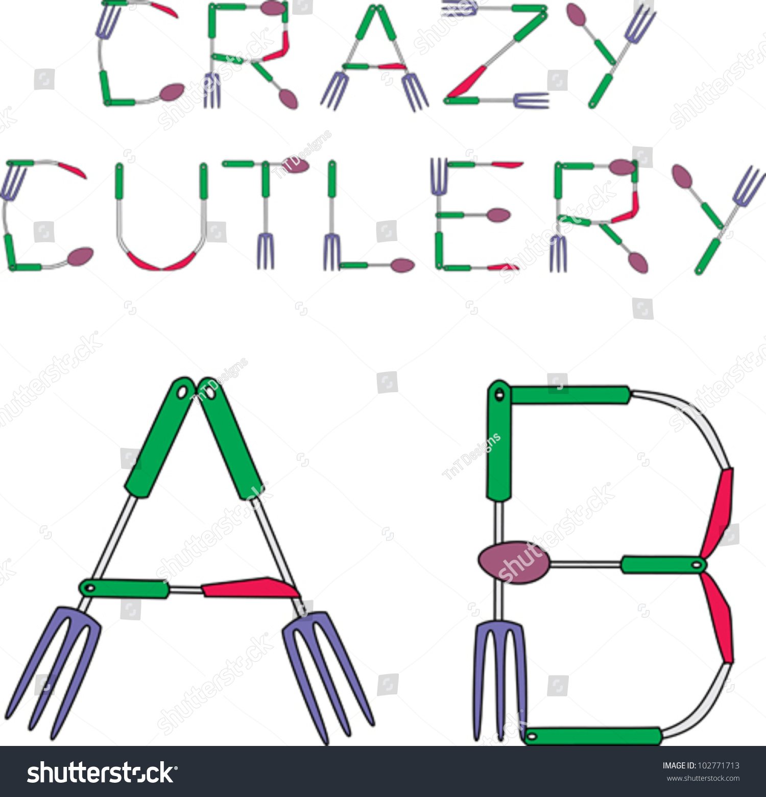 Pics  Word  Letters Fork Spoon Knife