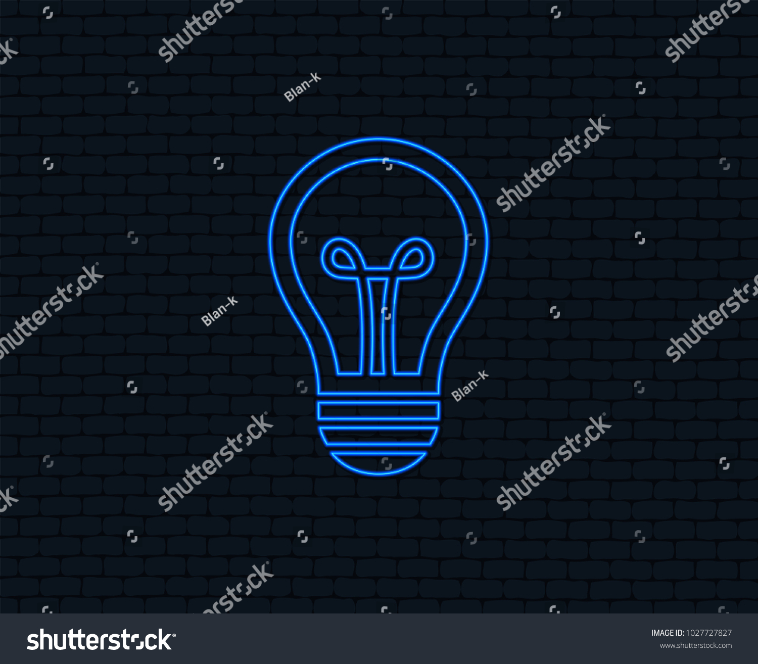 Neon Light Light Lamp Sign Icon Stock Vector (Royalty Free