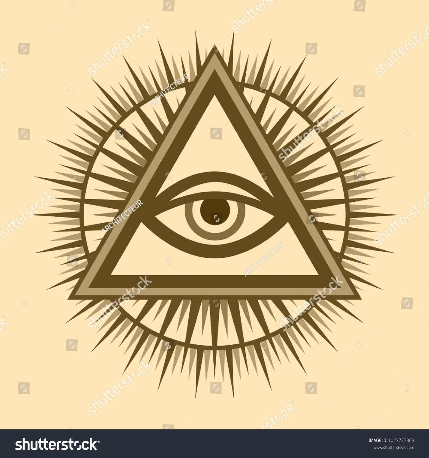 Allseeing eye god the eye providence stock vector 1027777363 all seeing eye of god the eye of providence eye of omniscience biocorpaavc