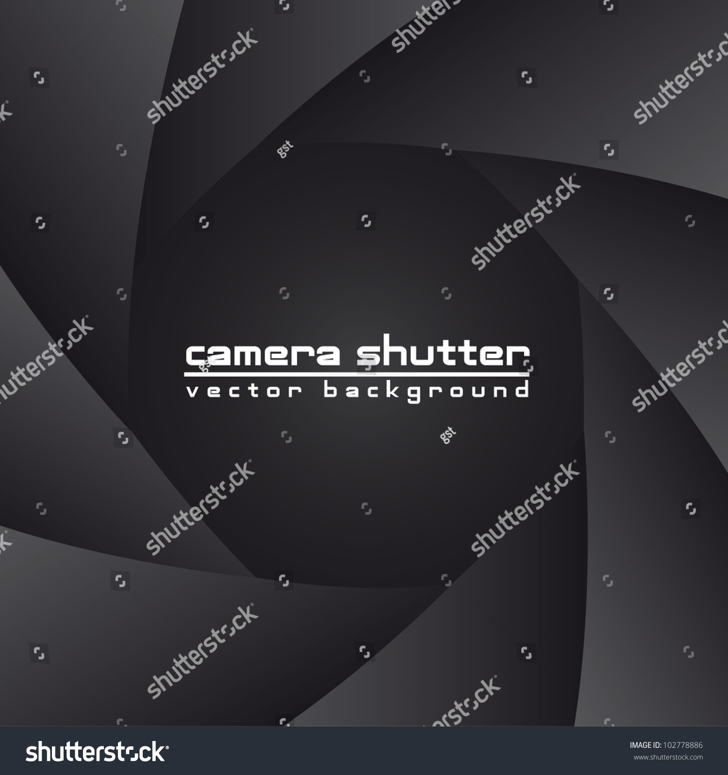 black camera shutter with space for copy, background. vector