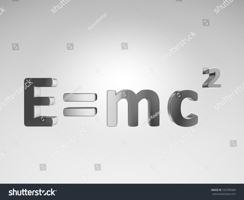 3 D Formula Emc 2 Stock Illustration 102789368 Shutterstock