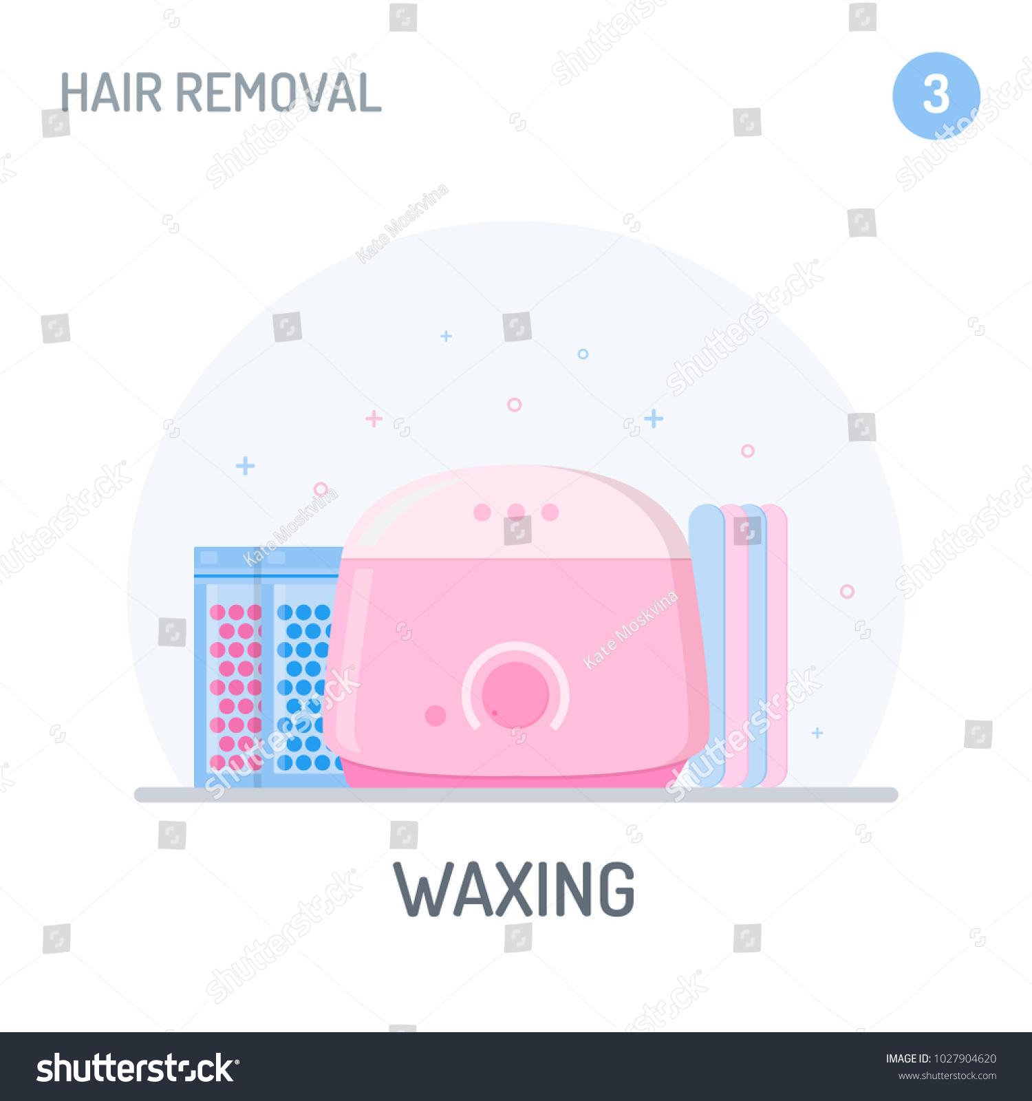 Hair Removal Waxing Hot Wax Warmer Stock Vector Royalty Free